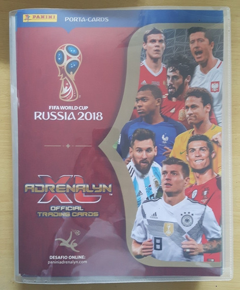 Cards Adrenalyn Copa Do Mundo 2018 -574 Cards Completo Pasta