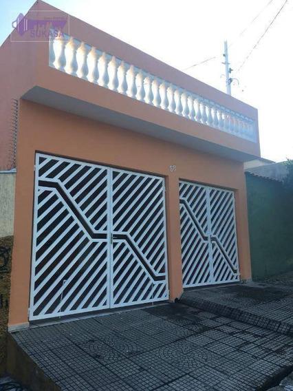 Sobrado À Venda, 165 M² Por R$ 450.000,00 - Jardim Das Maravilhas - Santo André/sp - So0425