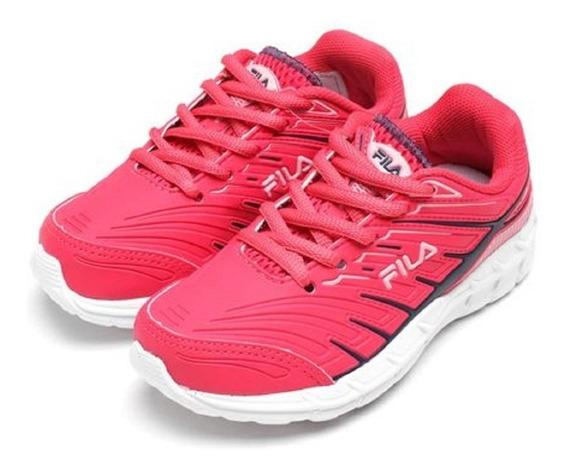 Tênis Menina Fila Axis Kids Rosa Pink Colegial Leve Original