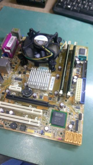 Placa Mãe Ipm31 775 Ddr2 + 4gb + Cooler + Proce. Core 2duo.