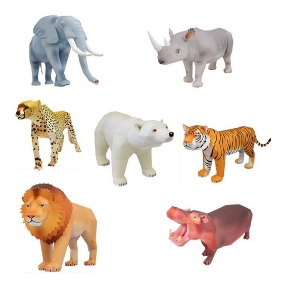 Maquetes De Papel 3d - 35 Modelos De Animais Em 3 Dimensões