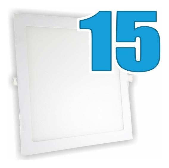 Kit 15 Painéis Plafon Luminária Embutir Quadrado 24w Bivolt