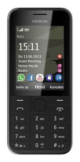 Nokia 208 Dual SIM 256 MB Preto 64 MB RAM