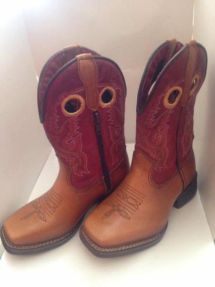 Bota Texana Masculina Bico Quadrado Na Cor Caramelo
