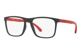 1209c832f Armação Oculos Grau Arnette An7132l 2506 Preto Vermelh Fosco