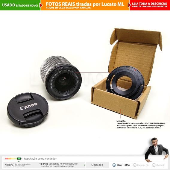 Adaptador Ef P/ Canon Efs 18-55mm 3.5~5.6 Is Stm Full Frame