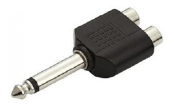 Plug Adaptador Rca Fêmea X P10 P/ Áudio Som
