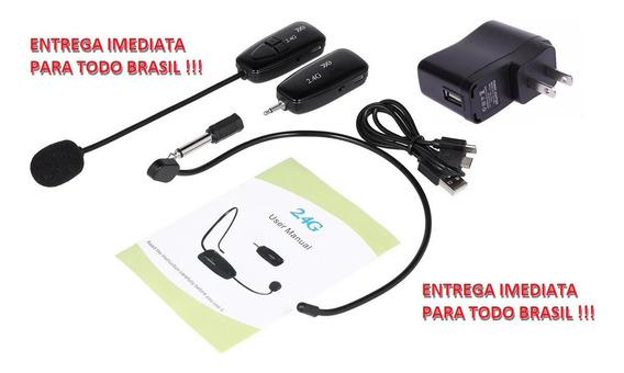 Microfone Cabeça Sem Fio 2.4 Ghz (profissional) + Carregador