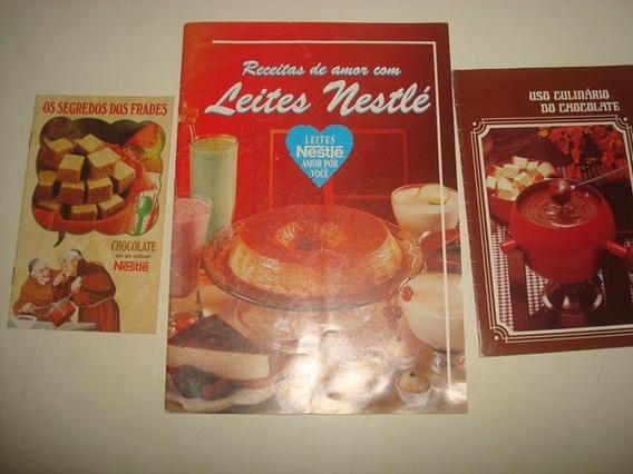Lote C/ 3 Livretos Antigos De Receitas Da Nestlé - Promoção