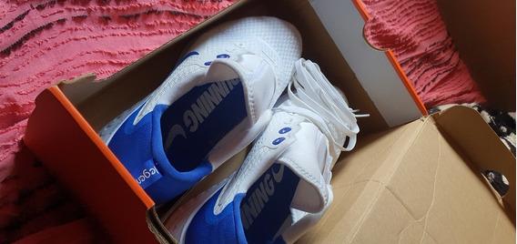 Tênis Nike Legend React Branco E Azul Royal Tm 41 Original
