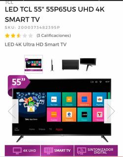 Led Tcl 55 55p65us Uhd 4k Smart Tv