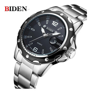 Reloj Hombre Acero Inox Lujo Fashion Marca Biden Importado