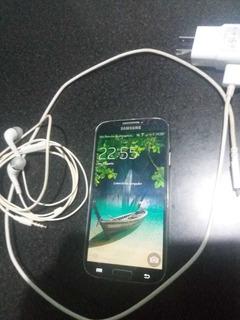Samsung S4 Vidrio Protector Cargador Y Auriculares Exelente