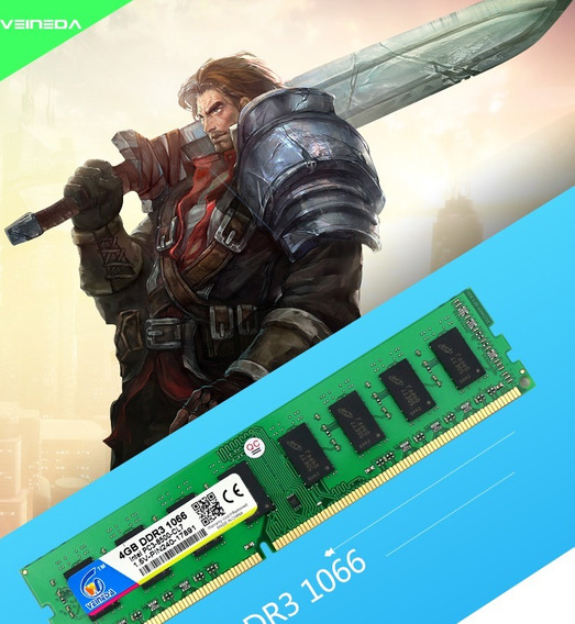 2 Memórias 4gb Ddr3 1066mhz Pc3-8500 - Desktop Gamer