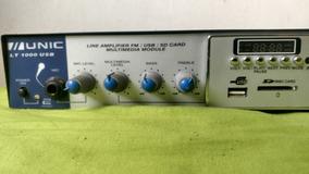 Amplificador Para Som Ambiente Lt1000 Usb - Unic