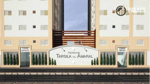 Apartamento Com 2 Dormitórios À Venda, 46 M² Por R$ 228.351,00 - Aviação - Praia Grande/sp - Ap1187