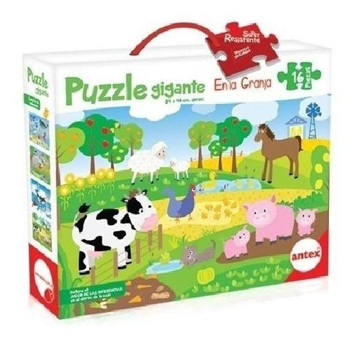Rompecabezas 16 Piezas Puzzle Gigante 4 Mod Antex 3032 Edu