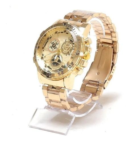 Relógio Masculino Dourado Banhado