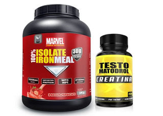 100% Isolate Iron Meal 3kg + Creatina 150g