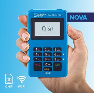 Point Mini Chip - A Maquininha De Cartão Do Mercado Pago Wi-fi & Chip Não Precisa De Celular