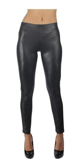 Leggings Para Mujer Casuales / Formales Viny Piel Negros