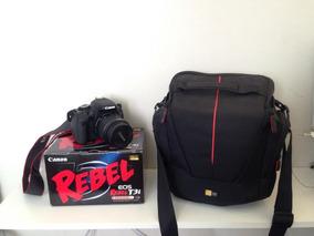 Câmera Canon Rebel T3i + Bolsa + Lente 55mm