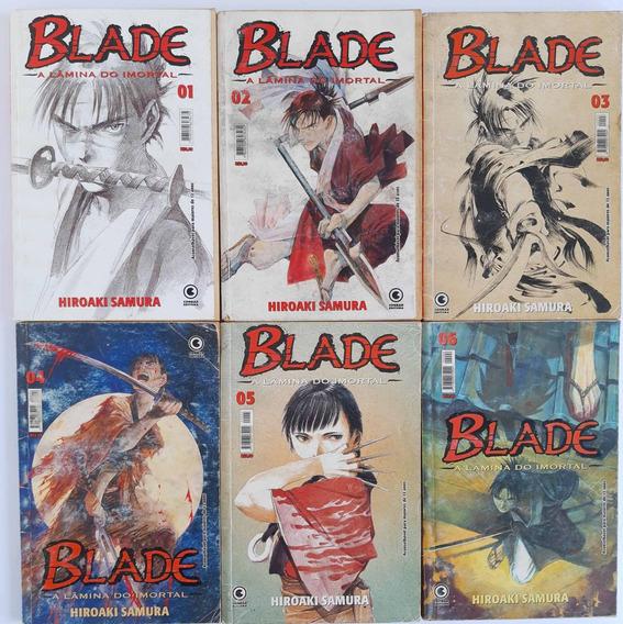Blade A Lamina Do Imortal - Lote Com 6 Mangás - Frete Grátis