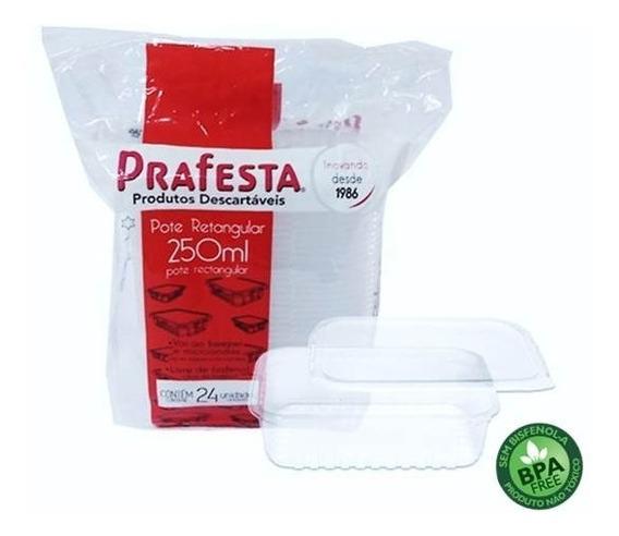 24u Embalagem Freezer E Microondas 250ml Prafesta - Marmita