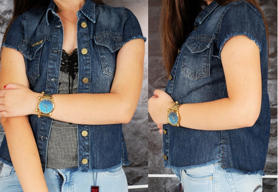 Camisa Jeans Patogê Feminina Ref 102