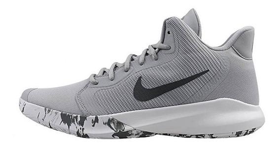 Tenis Nike Precision Iii Gris/blanco Aq7495-004 Nk0756