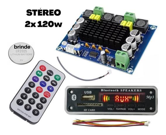 Módulo 240wrms(tpa Original)+usb Bluetooth(10% Off)