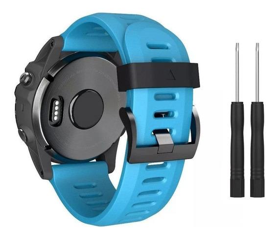 Pulseira Fenix 3 - Fenix 5x - Quatix - Tactix - D2 Azul
