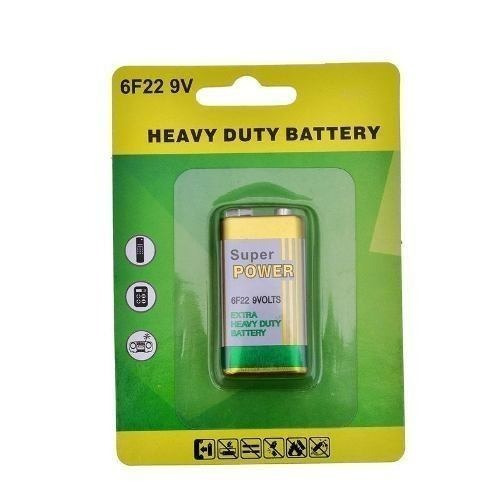 Bateria 9v 6f22 Blister Longa Duração 20 Unid Super Power