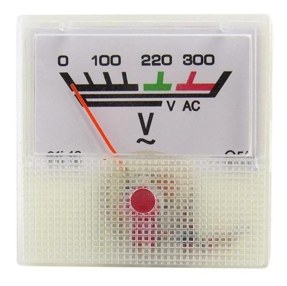 Voltímetro Analógico 0-300v Ac Painel Indústria 91l16