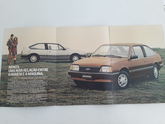 Folder Folheto Catálogo Brochura Monza Hatch Sl/e 1982 Raro