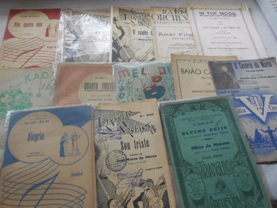 Partituras Raras Músicas Brasileiras Anos 30 E 40 Lote C/ 13