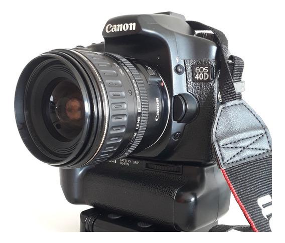 Câmera Canon Eos 40d + Grip, Lente 28-80mm Usm