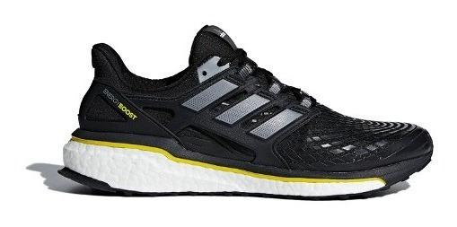 Tenis Masculino adidas Energy Boost - Preto/branco/amarelo