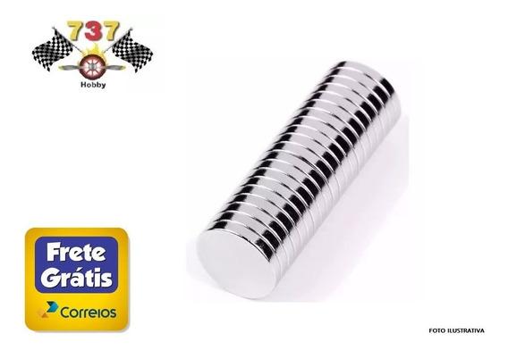 Ímãs De Neodímio Disco 10mm X 1mm 10 Peças - Frete Grátis