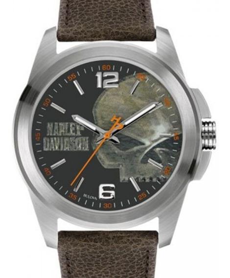 Relógio Bulova Masculino Harley Davidson - Wh30519t + Nfe