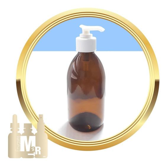 25 Botellas De Vidrio Ámbar 75ml Con Dosificador