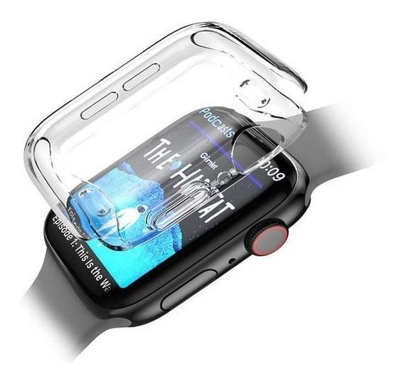 Protector Case Mica Transparente Apple Watch Series 5 4 3 2