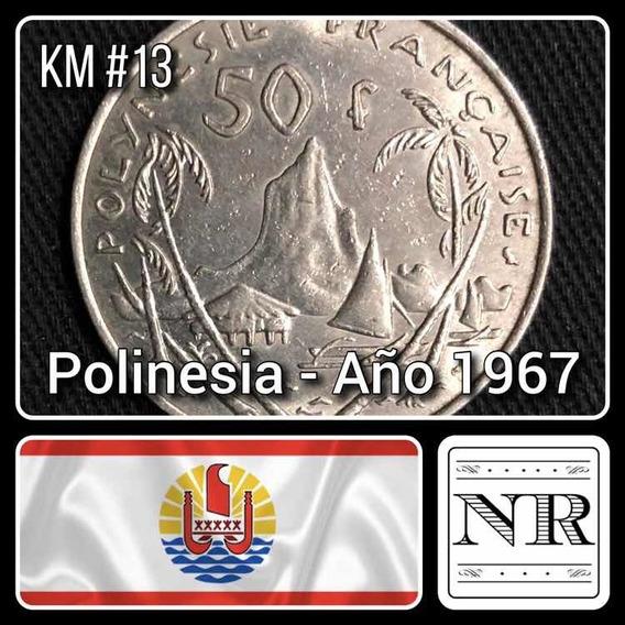 Polinesia Francesa - 50 Francos - Año 1967 - Km #13 - Moorea
