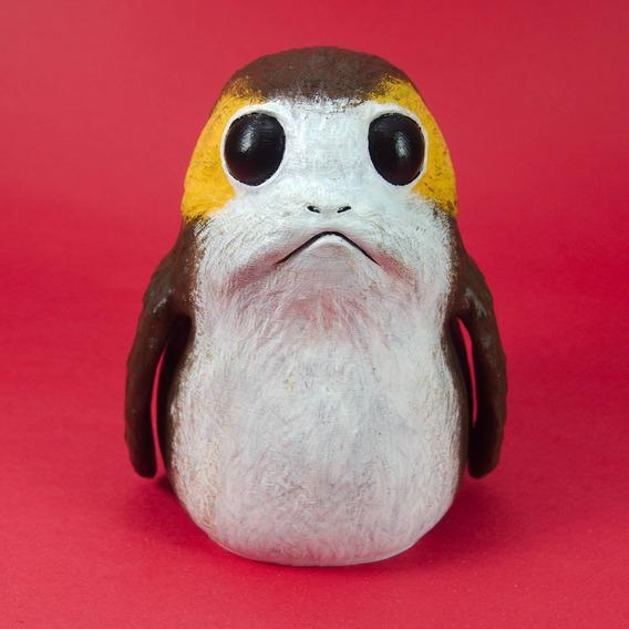 Boneco Porg 15cm Realista - Starwars Ep8 Os Últimos Jedi