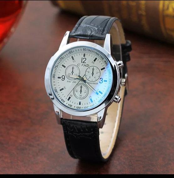2 Relógio Quartzo Luxo Masculino Fashion E Casual