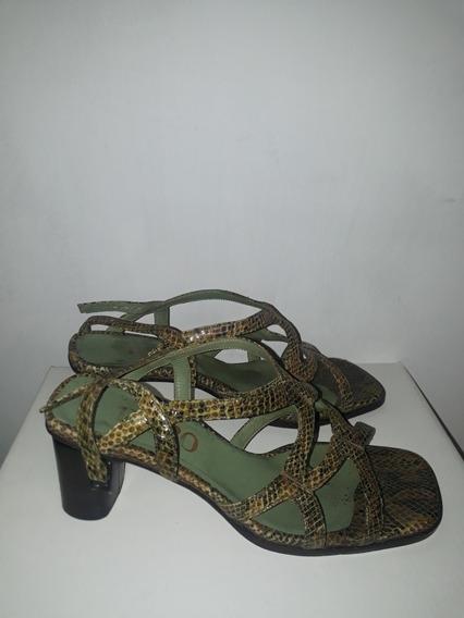 Sandalias De Mujer De Cuero Simil Vivora Divinas!!!