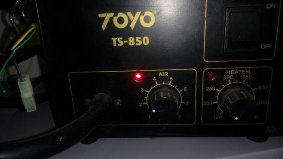 Leia! Estação Retrabalho Ar Quente Toyo Ts-850 Tensao 127v