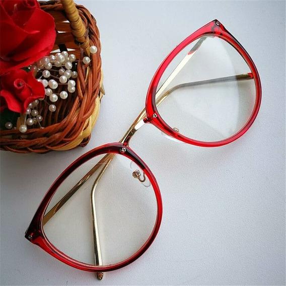 Armação Óculos De Grau Feminino + Case De Brinde
