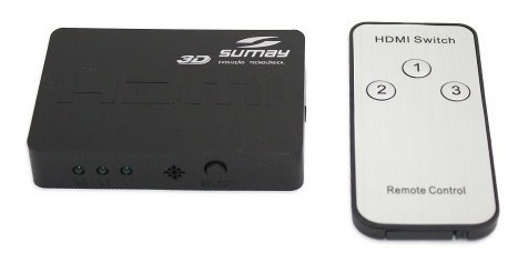 Switch Hdmi Mini Sumay Sm-sw300 3x1 Hispeed A8