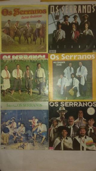 6 Lps Os Serranos Vinil Música Gaucha Frete Gratis